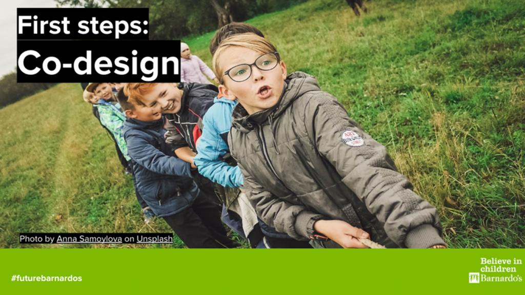 Front cover of First steps co-design guide
