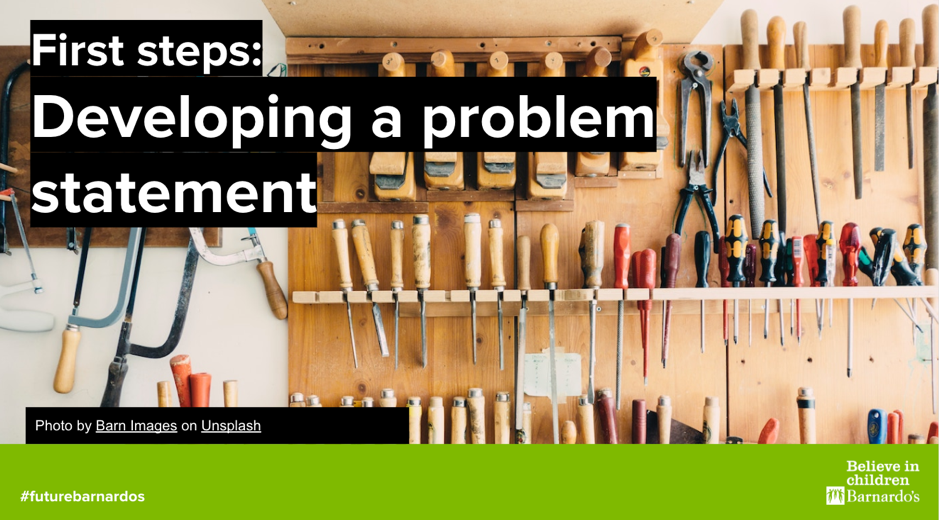 Front page of First steps guide on developing a problem statement