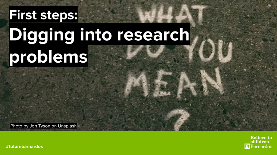 Front cover of First steps guide to digging into research problems